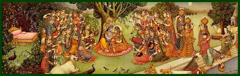 Radha and Madhava